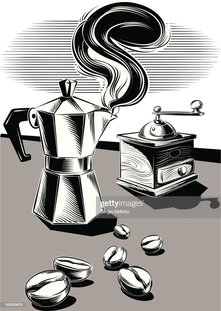 Coffee Maker With Espresso And Grinder : Coffee Maker And Grinder Vector Art Getty Images