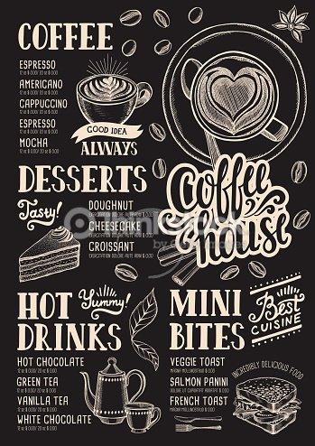 Coffee menu restaurant food template vector art thinkstock coffee menu restaurant food template maxwellsz