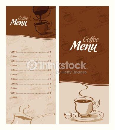Coffee Menu Templates Vector Art