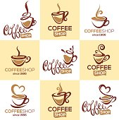 coffee shop, vector collection, signs, symbols and emblems