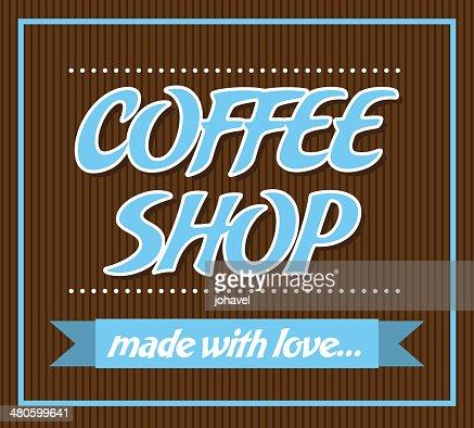 Coffee shop : Vector Art