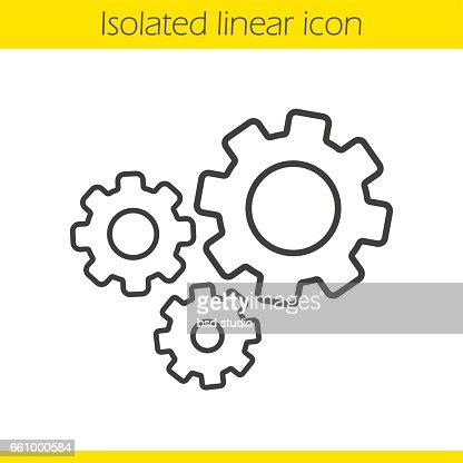 Cogwheels icon : stock vector