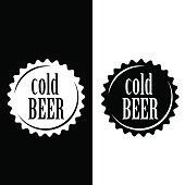 Vector art: beer sign.