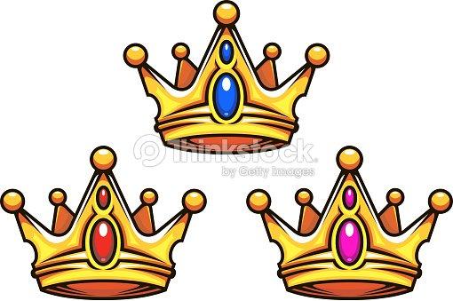 Colden couronne royale avec des bijoux clipart vectoriel - Clipart couronne ...