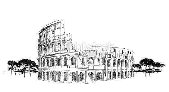 European Landmark Vector Art