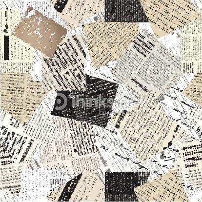 Collage de parches peri dico arte vectorial thinkstock for Papel pintado imitacion periodico