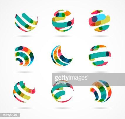 Sammlung von abstrakten business-Symbole, bunte : Vektorgrafik