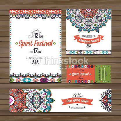 collection of banners flyers or invitations with geometric elements