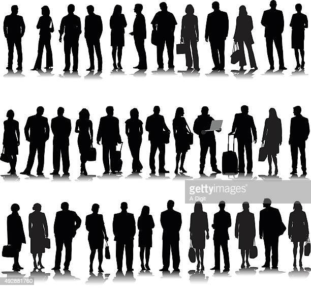 Collection Of Business Silhouette