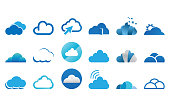 Collection of cloud logo icon template vector set