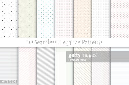 Collection of delicate seamless patterns. : stock vector