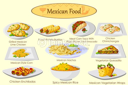 collection of delicious mexican food vector art thinkstock. Black Bedroom Furniture Sets. Home Design Ideas