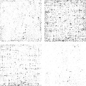 Set of grunge black and white stripe vector. Collection of dirt overlay texture ready to place over any objects.