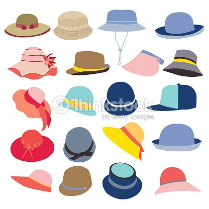 c2bcf970c5959 Collection Of Hats For Men And Women stock vector