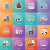 This is bundle of  interior room design icons  consisting  room designing along with home decor, this set is useful for home decoration projects, designing assignment and such related projects. Hope y