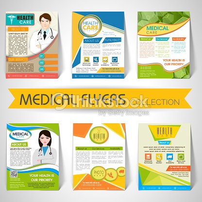 collection of medical flyers templates and banners vector art