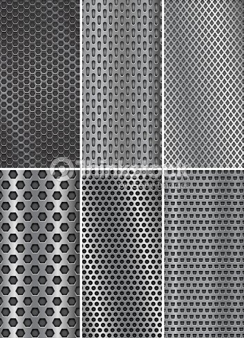 collection of metal backgrounds perforated steel textures flyer