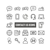 Thin icons for web, mpbile apps design