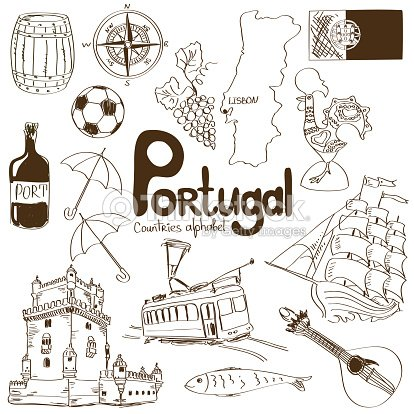 Collection dic nes du portugal clipart vectoriel thinkstock - Dessin du portugal ...