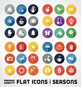 Vector Set Of Premium Quality Flat Icons For All Seasons.