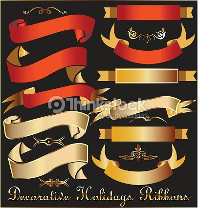 Collection of Ribbons holidays Christmas decoration