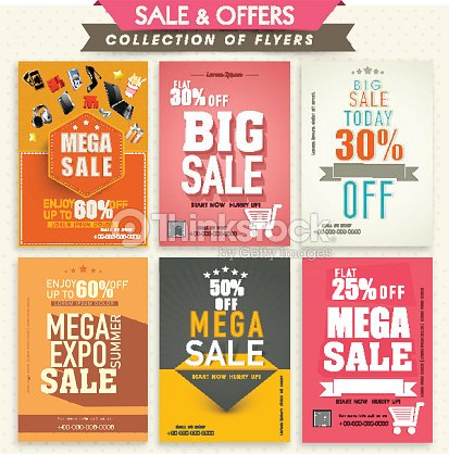 collection of sale flyers vector art thinkstock