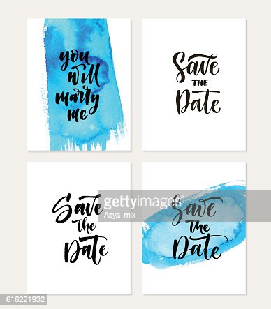 Collection of save the date cards. : Vectorkunst