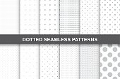 Collection of simple seamless dotted patterns. You can use like cloth textures.