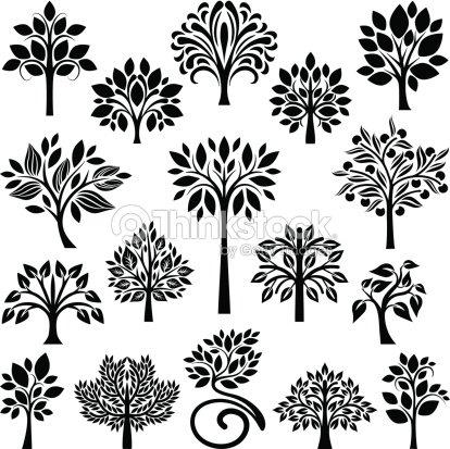 Raccolta di alberi arte vettoriale thinkstock for Albero ulivo vettoriale
