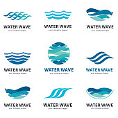 Collection of vector elements for water.