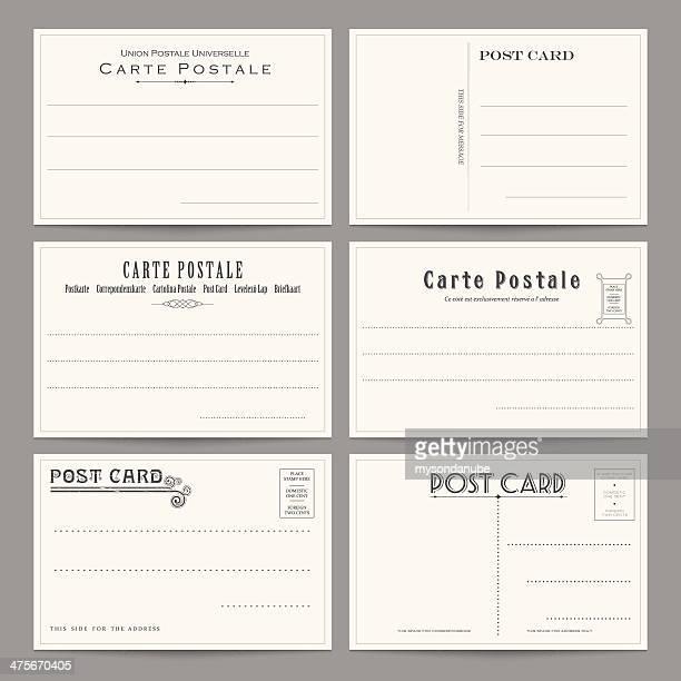 Sammlung von Vektor-Postkarte Designs