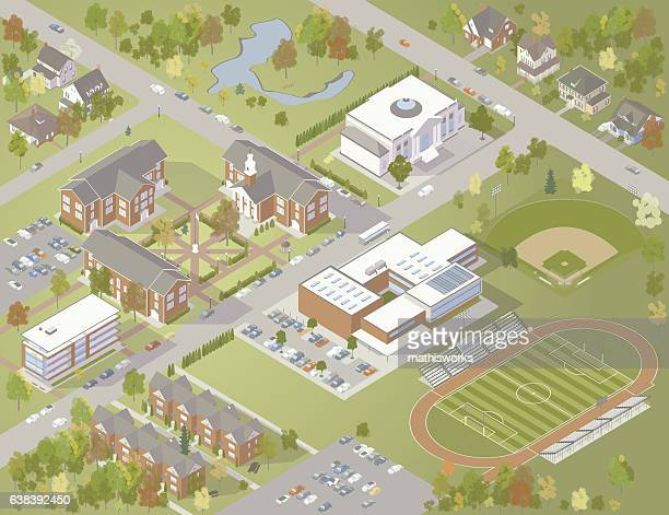 College Campus Illustration
