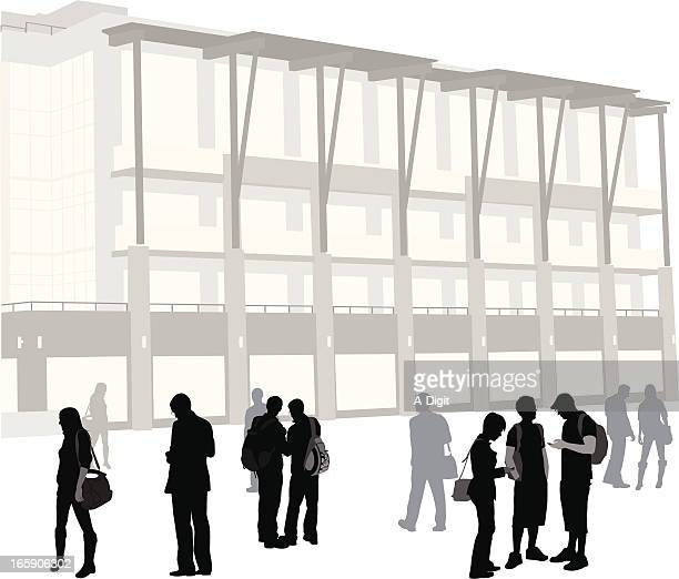 Campus Stock Illustrations and Cartoons | Getty Images