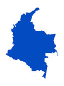 vector illustration of Colombia map