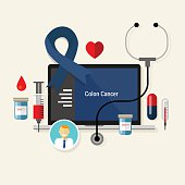 colon cancer treatment chemotherapy medicine medical diagnosis vector