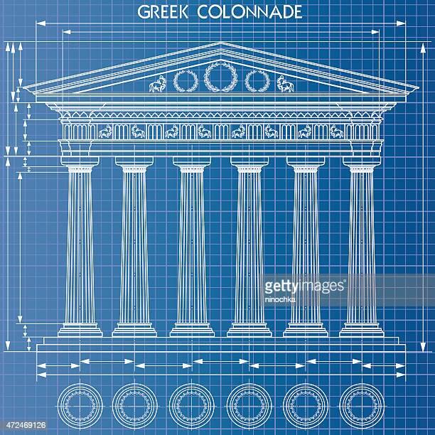 Colonnade Plan d'architecte