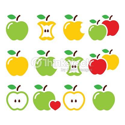 Color Manzanas Manzanas Núcleos Ellos Sufrieron Graves ...