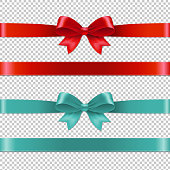 Color Bows Collection. Vector Illustration EPS10. Contains transparency.