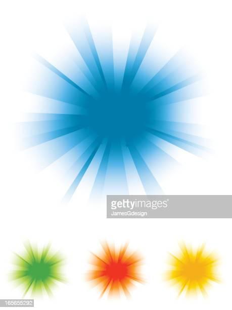 Color Burst Background Set