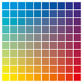 cmyk color chart to use in prepress and printing. Used to pick color swatches. Cyan, yellow and magenta are base colors and others has been created combining them. tints and ink catalog for graphic ar