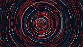Color circle cyber tunnel, Futuristic abstract background, vector illustration,