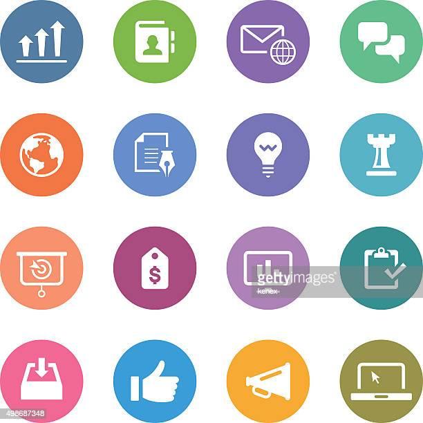 Colore cerchio icone Set/aziendale