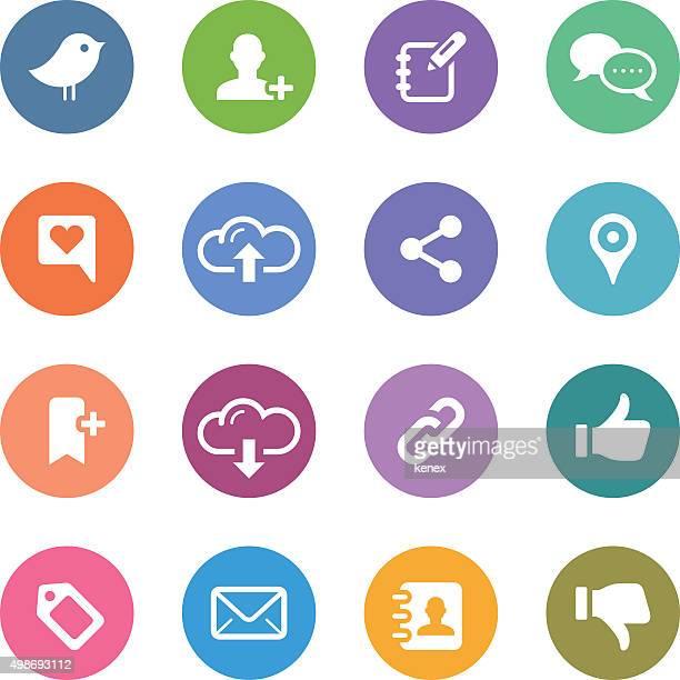 Color Circle Icons Set | Social Media