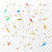 Color confetti in vector