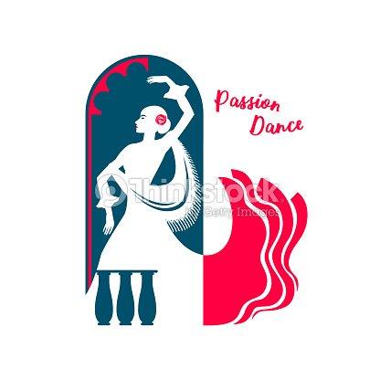 Dessin Anime Graphique Couleur De Dessin Dune Danseuse De Flamenco