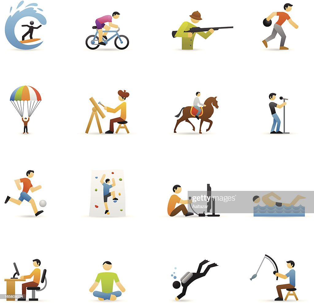 Color Icons - Hobbies : Vector Art