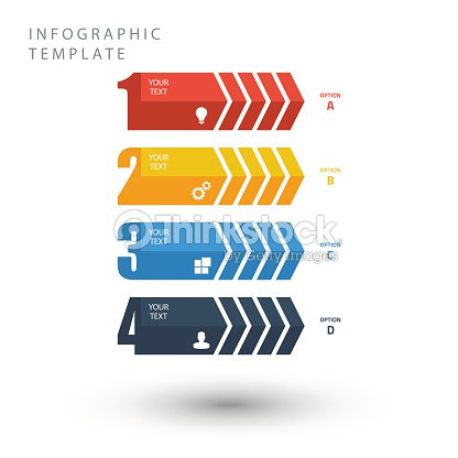 Color info graphic template in flat colors. : stock vector