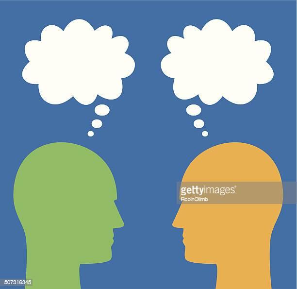 Farbe Männer reden Blase Profile