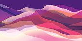 Color mountains, waves, abstract surface, modern background, vector design Illustration for you project