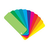 Color palette guide on white background. Vector stock illustration.
